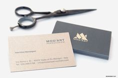 MOD'ART | Hair Salon | Logo Design and Branding on Behance - Find more on #Majestic http://www.favini.com/gs/en/fine-papers/majestic/features-applications/ - Share it on Twitter https://twitter.com/ConcreateStudio/status/580692763655688192