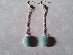 BO perle de verre bleu