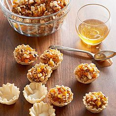 Walnut-Apricot Baklava Bites From Better Homes and Gardens, ideas and improvement projects for your home and garden plus recipes and entertaining ideas.