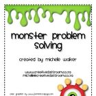 In this center children use colored monsters to assist with solving word problems.