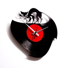 Curiosity Killed The Cat Clock, $62, now featured on Fab.