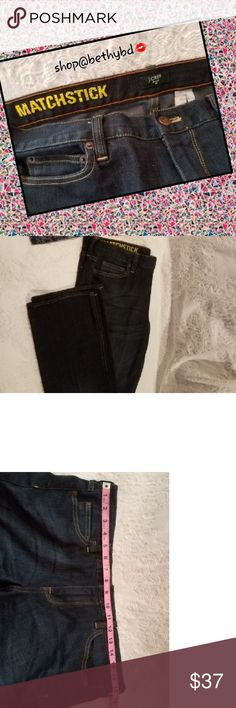 🆕️LISTING🔵 J Crew Matchstick Jeans (EUC) Size 31 Excellent used condition (EUC)  Purchase jeans separately with this listing or as part of an ensemble with coordinating t-shirt and necklace at a discount in ensemble listing J. Crew Jeans Straight Leg