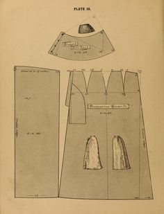1890 - 1892 The cutters' practical guide to the cutting of ladies' garments by Vincent, W. Costume Patterns, Dress Patterns, Sewing Patterns, 1890s Fashion, Edwardian Fashion, Historical Costume, Historical Clothing, Characters For Fancy Dress, Victorian Pattern