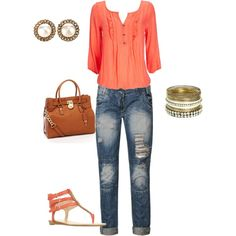 Casual spring outfit, LOVE!!