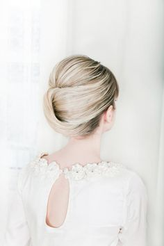 Love this twist on the french twist