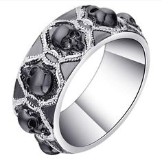 New product has just been added to our store Retro Black Evil .... Get it here http://everythingskull.com/products/retro-black-evil-skull-rings-silver-color-vintage-cz-gothic-skeleton-design-punk-1?utm_campaign=social_autopilot&utm_source=pin&utm_medium=pin while still available. And get an extra 20%off your entire order use code SALE20!!