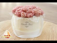 Cake flowerbox / decoration with bean paste - YouTube