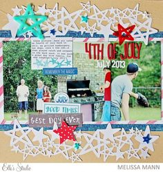 4th of July - July 2015 Kit by Melissa Mann for Elle's Studio
