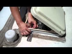 fixing a broken baggage latch, installing a vent cover and modifying the hot water drain system. Jayco Campers, Hybrid Travel Trailers, Diy Van Conversions, Rv Redo, Camping, Road Trips, Outdoors, Organization, Storage