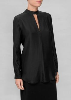 & Other Stories | Silk Keyhole Blouse