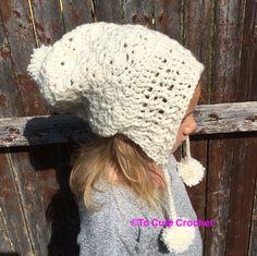 girls winter hat girls cream hat girls by Toocutecrochetbydian