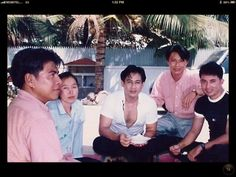 Khem Veasna with cambodian actor.