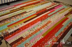 Jelly Roll Race Quilt :: Make a Quilt in an Hour?!