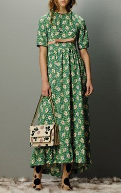 Short Sleeve Buttercup Dress by Marni for Preorder on Moda Operandi