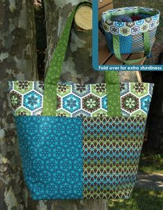 "FREE project: ""Stitch-Along Tote"" by Betz White (from Robert Kaufman Fabrics)"