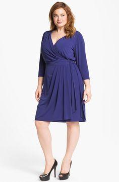 dc4a761701c3e Suzi Chin for Maggy Boutique Jersey Faux Wrap Dress (Plus Size)