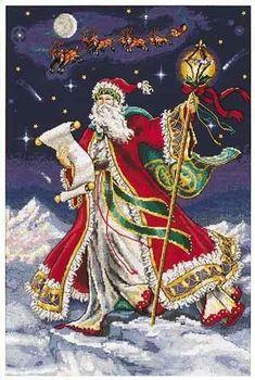 Schema punto croce Babbo Natale 5a