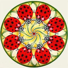 Ladybug Mandala by Holli Zollinger