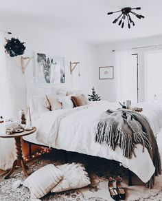 Love the sconces. 32 Beautiful Bedroom Decor Ideas for Compact Departments; For smart small apartment decorating ideas on a budget, look to accessories. bedroom decor ideas for teens. Cozy Bedroom, Bedroom Apartment, Home Decor Bedroom, Apartment Living, Bedroom Ideas, Master Bedroom, Modern Bedroom, Budget Bedroom, Contemporary Bedroom
