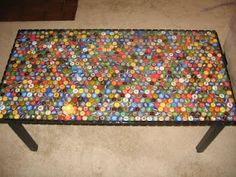 Another idea for the beer cap table I have done this it's pretty awesome !