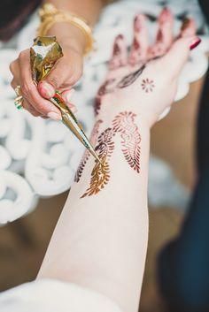 Henna for Tina & David's Culture Chic Hindu-Jewish Wedding