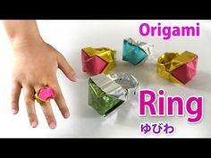 【折り紙】リボンリング Origami Bowtie Ring(カミキィ kamikey) - YouTube