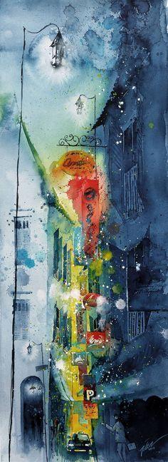 "Saatchi Art Artist Tilen Ti; Painting, ""Taxi!"" #art"
