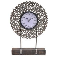 Manhattan Metal Washer Table Clock