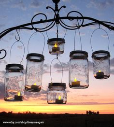 DIY Lanterns Hangers Wide Mouth Mason Jar by treasureagain on Etsy, $36.50