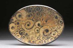 Beautiful  Spiral Tattoo Platter by Daphne Hatcher