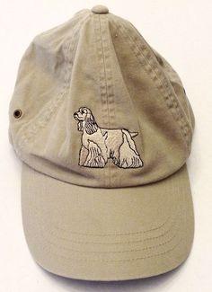 LL Bean Khaki Baseball Hat Cocker Spaniel Dog Embroidered  Adult Adjustable #LLBean