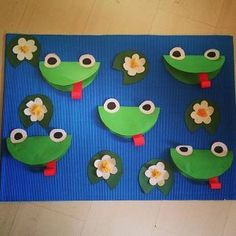 Crafts,Actvities and Worksheets for Preschool,Toddler and Kindergarten.Lots of worksheets and coloring pages. Frog Crafts Preschool, Pond Crafts, Jungle Crafts, Preschool Art Projects, Kindergarten Crafts, Daycare Crafts, Kids Crafts, Spring Craft Preschool, Arts And Crafts For Adults