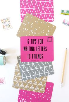 Tips for writing a letter // Cotton & Flax