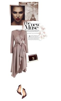 """Romantic..."" by rasa-j ❤ liked on Polyvore featuring Christian Louboutin, Zimmermann, Louis Vuitton, romantic, womenfashion, falloutfit and wrapdresses"
