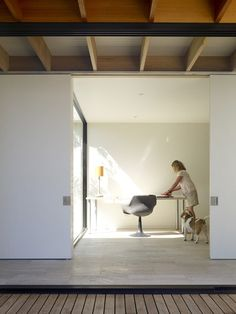Project: Hampden II Architects: Kennedy Nolan Victorian Ash timber used for the beams, joinery and shelving.