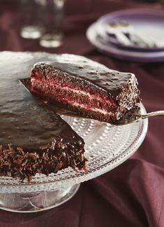 No Bake Desserts, Vegan Desserts, Banana Cream Pie Cake, Chocolate Raspberry Mousse Cake, Baking Recipes, Cake Recipes, Just Eat It, Sweet Pastries, Desert Recipes