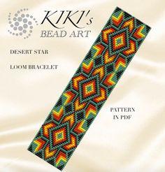Bead loom pattern Desert star LOOM bracelet por KikisBeadArts