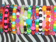 Diy Kandi Bracelets, Cute Bracelets, Beaded Bracelets, Harajuku, Rainbow Loom Bands, Kandi Patterns, Pearler Beads, Pony Beads, Bracelet Patterns