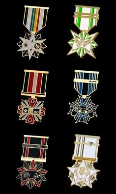 Gaming Console Medals: (clockwise from top left) Super NES, Xbox, PlayStation, Dreamcast, Genesis, NES.