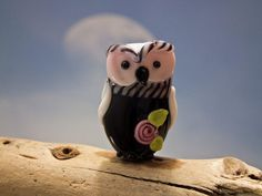 Phoebe lampwork owl bead sra by DeniseAnnette on Etsy, $16.00