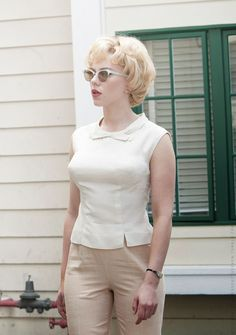 Scarlett Johansson as Janet Leigh in Hitchcock, 2012, Costume Design by Julie Weiss.