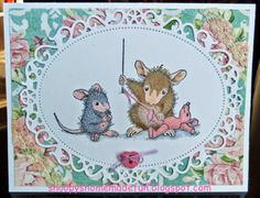 HOUSE MOUSE SEWING CARD