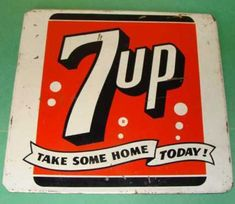 Old 7up Love the Green.