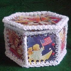 Image of Hexagon Lidded Christmas Card Box... What an amazing idea thanks so much