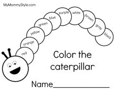 Awesome Picture of Hungry Caterpillar Coloring Pages . Hungry Caterpillar Coloring Pages Very Hungry Caterpillar Coloring Pages Unique Creative Design New Bug Activities, Preschool Learning Activities, Color Activities, Kids Learning, Caterpillar Preschool, The Very Hungry Caterpillar Activities, English Activities For Kids, English Worksheets For Kids, Chenille Affamée