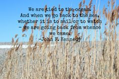 A winter's walk by the sea and the words of John F. Kennedy.