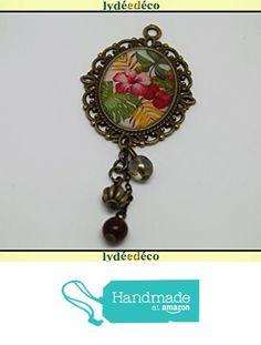 Broche rétro vintage résine cabochon rose vert jaune blanc laiton bronze pendentif ovale 18 x 25mm perles breloques à partir des Lydee Deco https://www.amazon.fr/dp/B074DD9K2W/ref=hnd_sw_r_pi_dp_SP3IzbV4P7EGN #handmadeatamazon