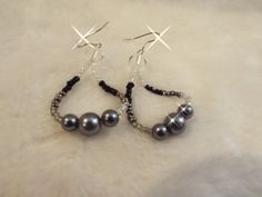 Black Seeds and Pearls by TiffanysToques on Etsy