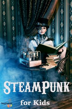 steampunk (sci-fi w/ steam power) books for kids -- a great round-up to get you started!