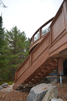 Stairs on a Curved Deck